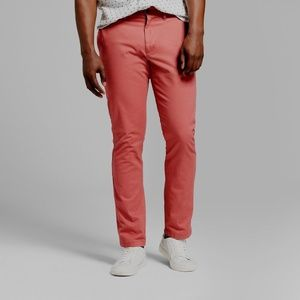 Mens Athletic Fit Hennepin Chino Pants Dusty Red